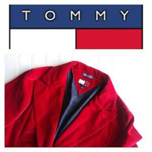 Tommy Hilfiger Red Velvet Jacket